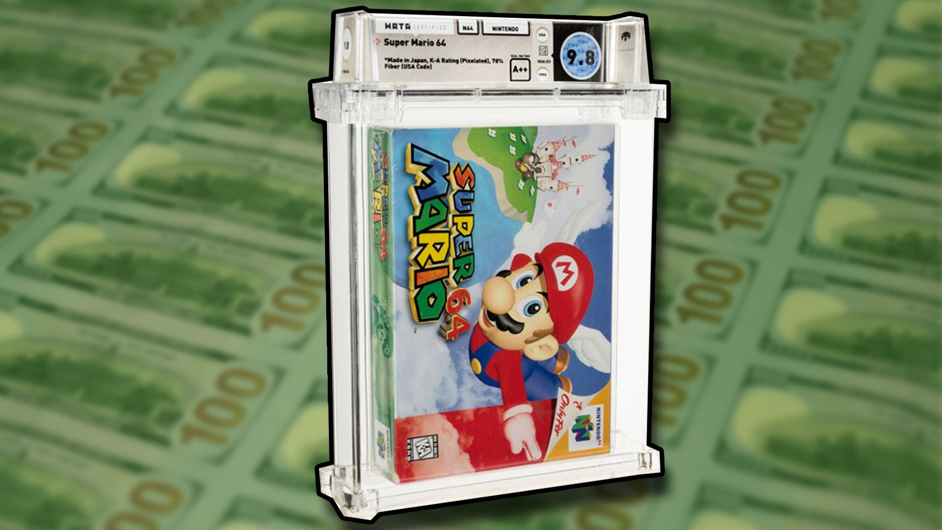 Super Mario 64 продали 1,5$ млн. Она побила предыдущий рекорд за два дня