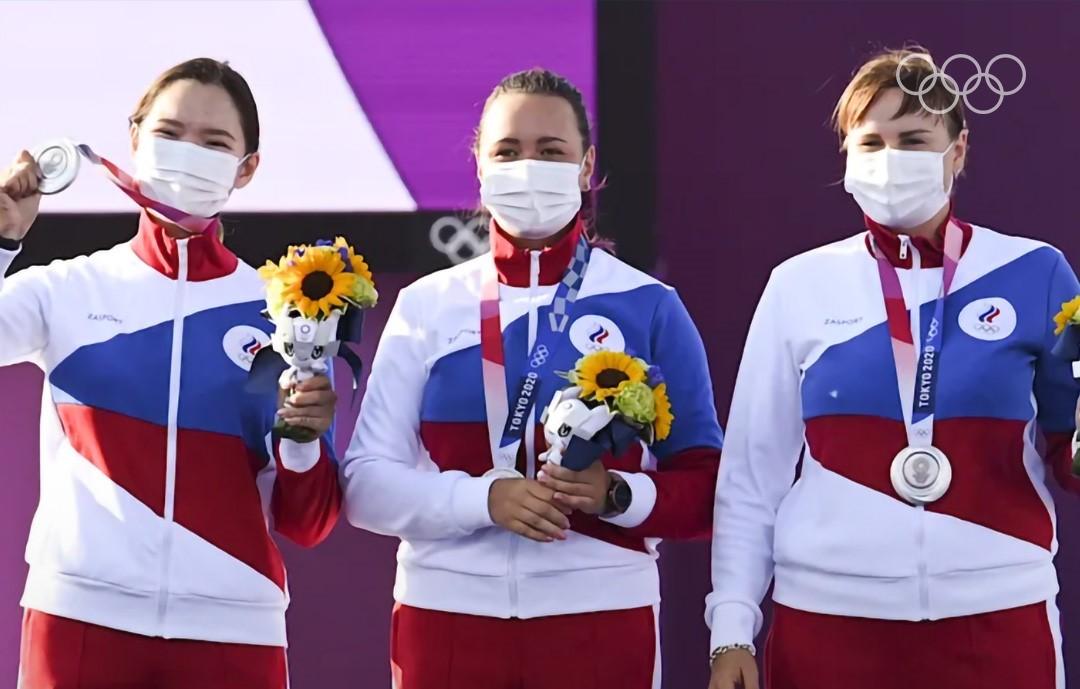 Россиянки выиграли серебро встрельбе излука наОлимпиаде вТокио