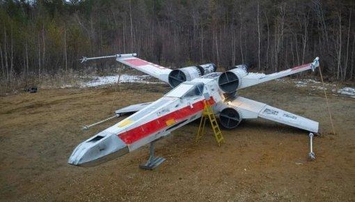 Якутские косплееры построили копию истребителя Люка Скайуокера из«Звёздных войн»
